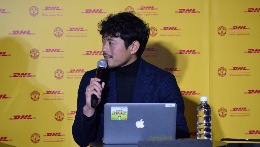 鈴木啓太氏は、引退後の活動について「色々とチャレンジして、最終的にはサッカー界に還元できるように勉強している」と語った