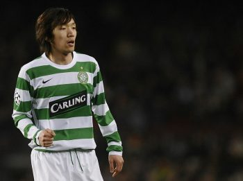05 March 2008, Barcelona, Spain --- Japan's Shunsuke Nakamura of Celtic in action against FC Barcelona during their soccer match at the Nou Camp stadium. Photo by Victor Fraile --- Image by © Victor Fraile/Corbis | Location: Barcelona, Spain.  (Photo by Victor Fraile/Corbis via Getty Images)