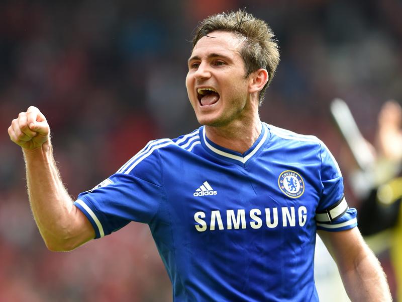 2014年夏までチェルシーでプレーしたランパード [写真]=Chelsea FC via Getty Images
