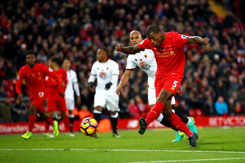 ゴールラッシュはワイナルドゥムが締めくくった [写真]=Liverpool FC via Getty Images