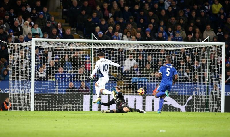 レスターはミスから失点を喫した [写真]=Leicester City FC via Getty Images