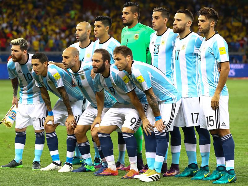 アルゼンチン代表の先発メンバー [写真]=Getty Images