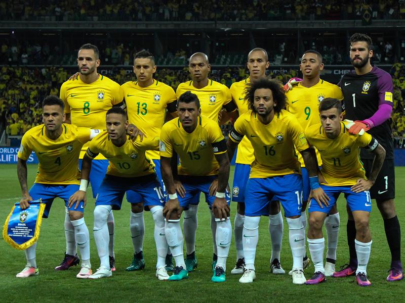 ブラジル代表の先発メンバー [写真]=LatinContent/Getty Images