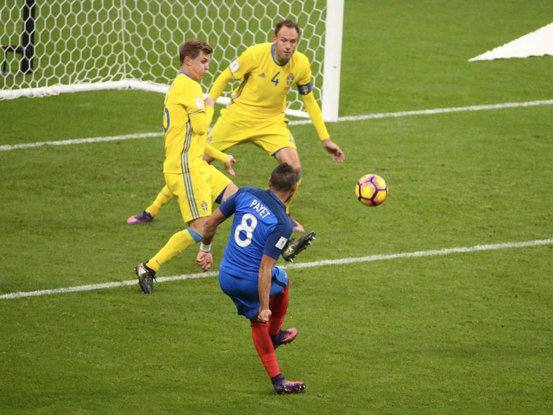 パイェが冷静にゴール右隅へ決め、フランスが逆転に成功 [写真]=Getty Images