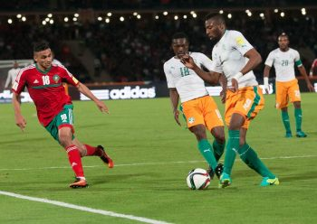 MARRAKESH, MOROCCO - NOVEMBER 12 :  Wilfried Kanon of Ivory Coast in action during the 2018 World Cup qualifying Group C football match between Morocco and Ivory Coast at Marrakesh Stadium in Marrakesh, Morocco on November 12, 2016. (Photo by Jalal Morchidi/Anadolu Agency/Getty Images)