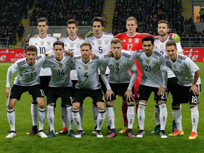 ドイツ代表の先発メンバー [写真]=NurPhoto via Getty Images