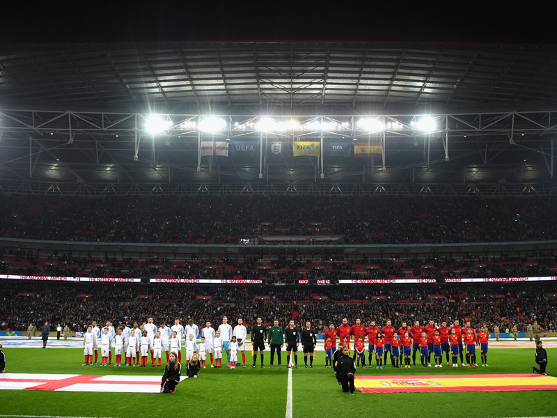 ウェンブリー・スタジアムで行われた注目の一戦 [写真]=The FA via Getty Images