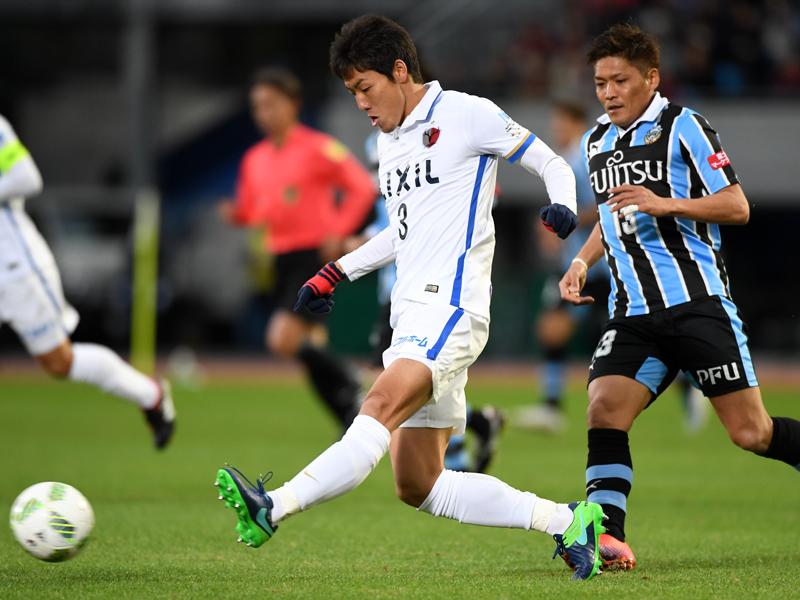 岩政の「3」を引き継いだ昌子源。23日、鹿島は川崎を1-0で破った [写真]=Getty Images