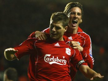 LIVERPOOL, UNITED KINGDOM - NOVEMBER 10: during the Barclays Premier League match between Liverpool and Fulham at Anfield on November 10, 2007 in Liverpool, England. (Photo by Clive Brunskill/Getty Images)