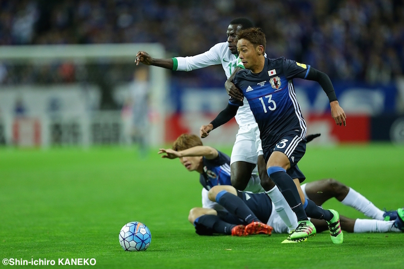清武はオマーン戦に続いてPKでゴールを決めた [写真]=兼子愼一郎