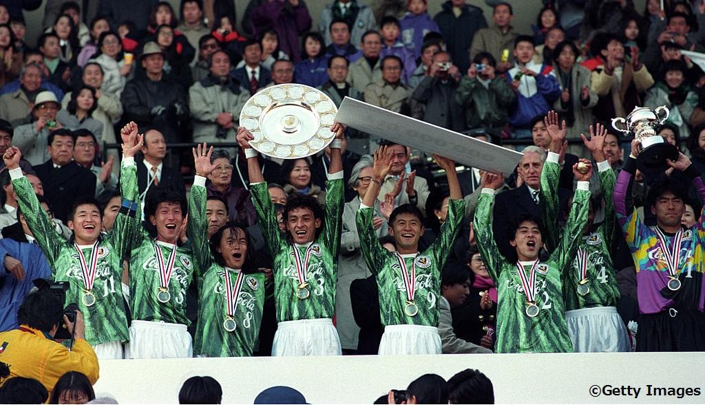 1993年のJリーグを制したヴェルディ川崎(当時) [写真]=Getty Images