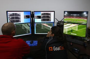 RABAT, MOROCCO - DECEMBER 13:  Goal line technology is seen during the FIFA Club World Cup Quarter Final match between ES Setifienne and Auckland City FC at Prince Moulay Abdellah on December 13, 2014 in Rabat, Morocco.  (Photo by Ian Walton - FIFA/FIFA via Getty Images)