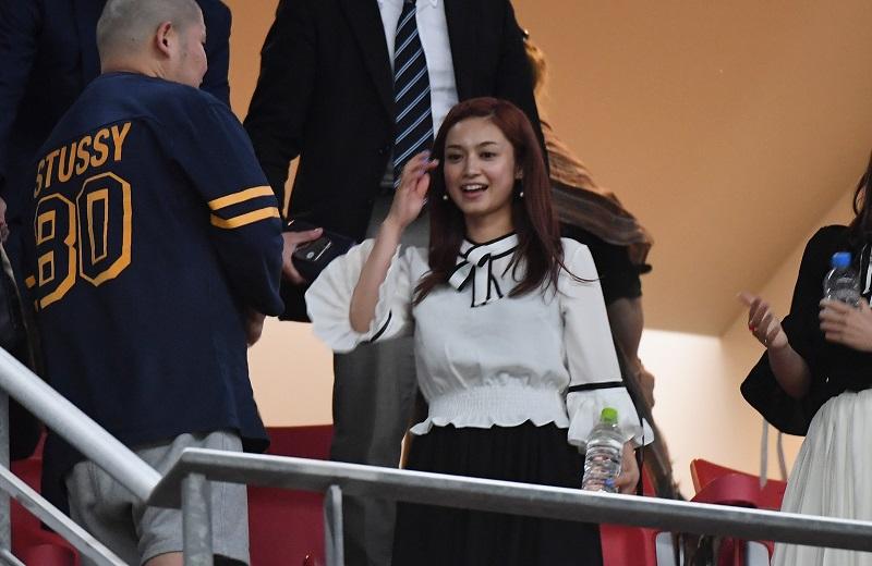 日本代表の試合観戦に訪れる平愛梨さん [写真]=Getty Images