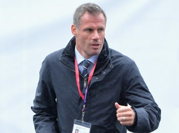 BURNLEY, ENGLAND - AUGUST 20: Jamie Carragher arrives at the ground during the Premier League match between Burnley and Liverpool at Turf Moor on August 20, 2016 in Burnley, England.  (Photo by Mark Runnacles/Getty Images)