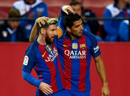 ●バルサと契約延長のスアレス、メッシの去就に言及「彼も更新したら完璧な幸せ」