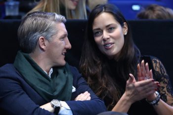 LONDON, ENGLAND - NOVEMBER 20:  (L-R) Bastian Schweinsteiger and Ana Ivanovic attend the Singles Final between Novak Djokovic of Serbia and Andy Murray of Great Britain at the O2 Arena on November 20, 2016 in London, England.  (Photo by Clive Brunskill/Getty Images)