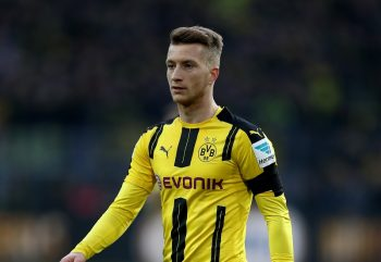 DORTMUND, GERMANY - DECEMBER 03:  MArco Reus of Dortmund looks on during the Bundesliga match between Borussia Dortmund and Borussia Moenchengladbach at Signal Iduna Park on December 3, 2016 in Dortmund, Germany.  (Photo by Lars Baron/Bongarts/Getty Images)