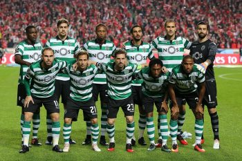 Sportings inicial team during Premier League 2016/17 match between SL Benfica and Sporting CP, at Estadio da Luz in Lisbon on December 11, 2016. (Photo by Bruno Barros / DPI / NurPhoto via Getty Images)