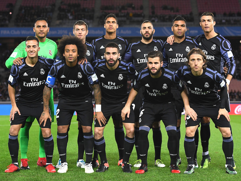 レアル・マドリードのスタメン [写真]=FIFA via Getty Images