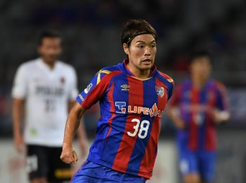 CHOFU, JAPAN - OCTOBER 05:  (EDITORIAL USE ONLY) Keigo Higashi of FC Tokyo in action during the J.League Levain semi final first leg match between FC Tokyo and Urawa Red Diamonds at Ajinomoto Stadium on October 5, 2016 in Chofu, Tokyo, Japan.  (Photo by Etsuo Hara/Getty Images)