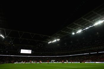 LONDON, ENGLAND - NOVEMBER 15:  A general view of the action during the international friendly match between England and Spain at Wembley Stadium on November 15, 2016 in London, England.  (Photo by Clive Rose/Getty Images)