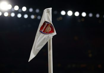 LONDON, ENGLAND - NOVEMBER 30: A corner flag with the Arsenal club badge on it during the EFL Quarter Final Cup match between Arsenal and Southampton at Emirates Stadium on November 30, 2016 in London, England. (Photo by Catherine Ivill - AMA/Getty Images)