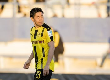 MARBELLA, SPAIN - JANUARY 12: Shinji Kagawa of Borussia Dortmund during the friendly match between Borussia Dortmund and Standard Liege on January 12, 2017 in Marbella, Spain.  (Photo by Alexandre Simoes/Borussia Dortmund/Getty Images)