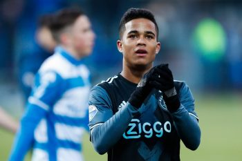 Justin Kluivert of Ajaxduring the Dutch Eredivisie match between PEC Zwolle and Ajax Amsterdam at the MAC3Park stadium on January 15, 2017 in Zwolle, The Netherlands(Photo by VI Images via Getty Images)