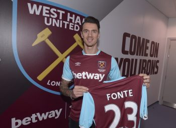 LONDON, ENGLAND - JANUARY 20:  West Ham United Unveil New Signing Jose Fonte at The London Stadium on January 20, 2017 in London, England.  (Photo by Arfa Griffiths/West Ham United via Getty Images)