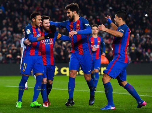 ●国王杯3連覇狙うバルサ、メッシ&スアレス弾などで5発大勝 ベスト4進出