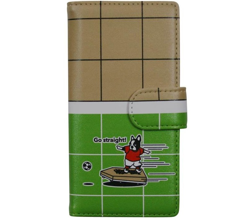 同じく室谷女流二段が監修したサッカージャンキー製のスマートフォンケース。全4種類がラインナップされている
