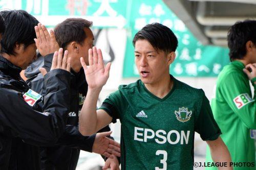 【ライターコラムfrom松本】J1昇格へチーム最年長の田中隼磨が見せた「不退転の決意」