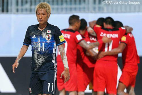 ●ビーチサッカー日本代表、赤熊卓弥のハットで食い下がるも、前回準優勝のタヒチに惜敗