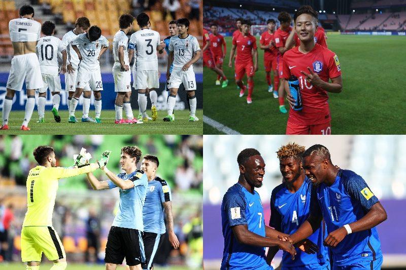 日本、韓国、ウルグアイ、フランス