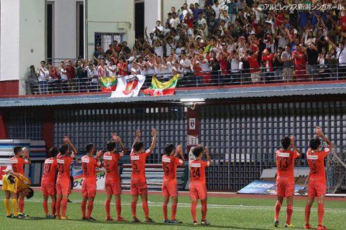 ●長崎健人のFK弾でアルビレックス新潟シンガポールがミャンマー代表に勝利