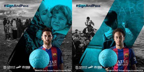 ●バルセロナとUNHCR(国連難民高等弁務官事務所)がコラボキャンペーン開始