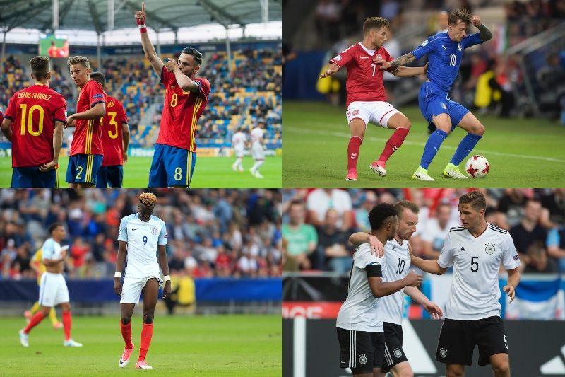 スペイン、イタリア、ドイツ、イングランド
