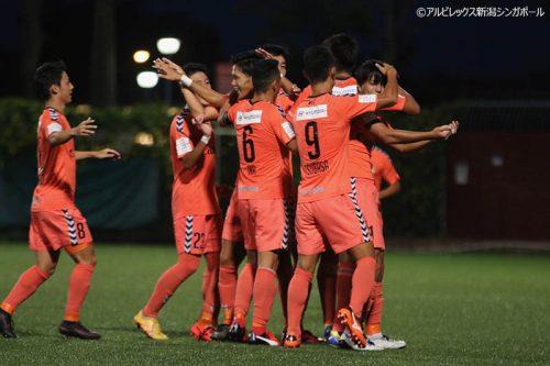 ●アルビ新潟S、ウォーリアーズを下しグループ突破に王手/リーグカップ
