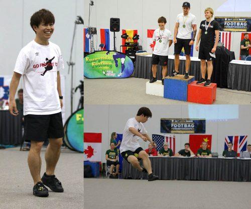 ●石田太志、フットバッグ世界大会で3位「来年のブルガリア大会では世界一を」