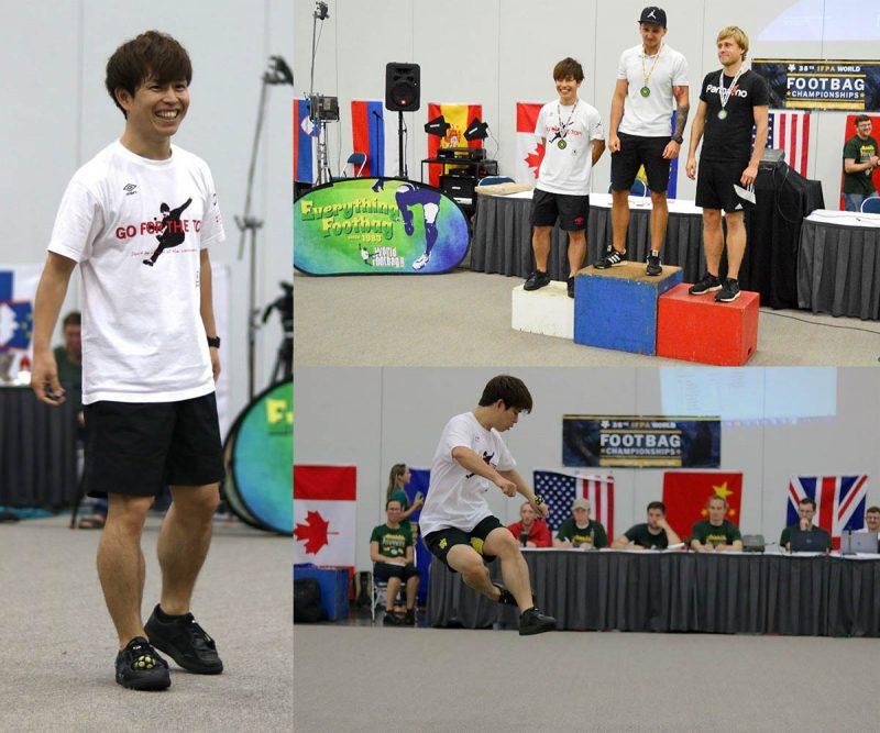 石田太志、フットバッグ世界大会...