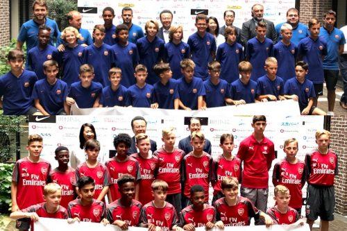 ●U-12ジュニアチャレンジの会見を実施…バルサ&アーセナルの若き選手たちが来日!