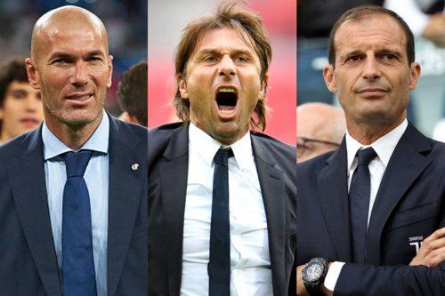 ●FIFA最優秀監督賞、CL連覇のジダンら候補3名…コンテ、アッレグリも