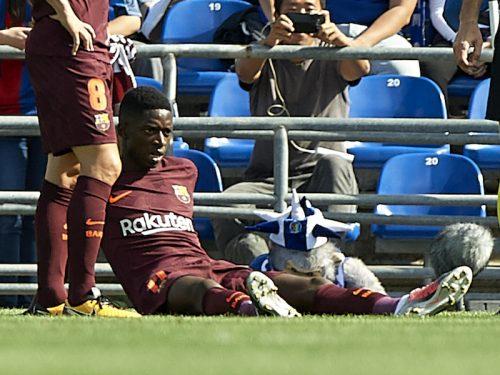 デンベレ、念願のバルサ移籍も3戦出場で長期離脱へ…左足負傷で全治4カ月
