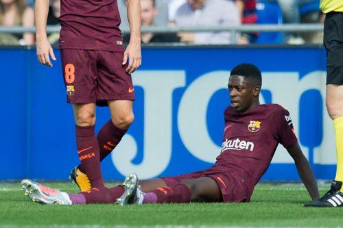 ●バルサ加入3試合目で負傷、長期離脱のデンベレ…以前から左足に問題?