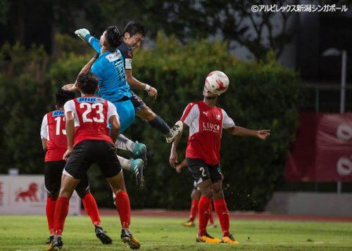 ●2戦5発のアルビ新潟Sが3年連続でシンガポールカップ決勝進出決定