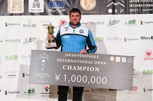 ●国内初開催のフットゴルフ国際大会が閉幕、イギリスのB・クラークが優勝