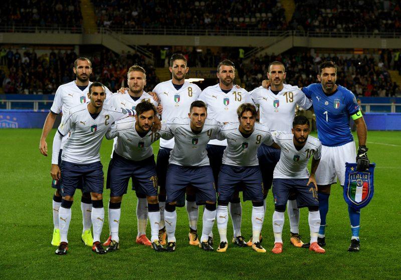 マケドニア代表戦に挑むイタリア代表メンバー
