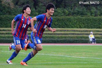 決勝ゴールを挙げた米田隼也