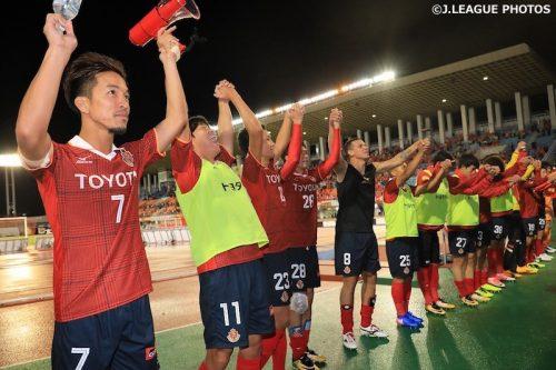 ●勝ち越しゴールの名古屋MF田口、一時逆転許すも「盛り返せると信じていた」