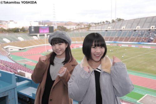 『虹コン』の的場華鈴と大和明桜が高校女子選手権を生観戦! 「これからも応援する」